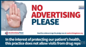 no advertising please australia campaign to stop pharma rep access to healthcare professionals
