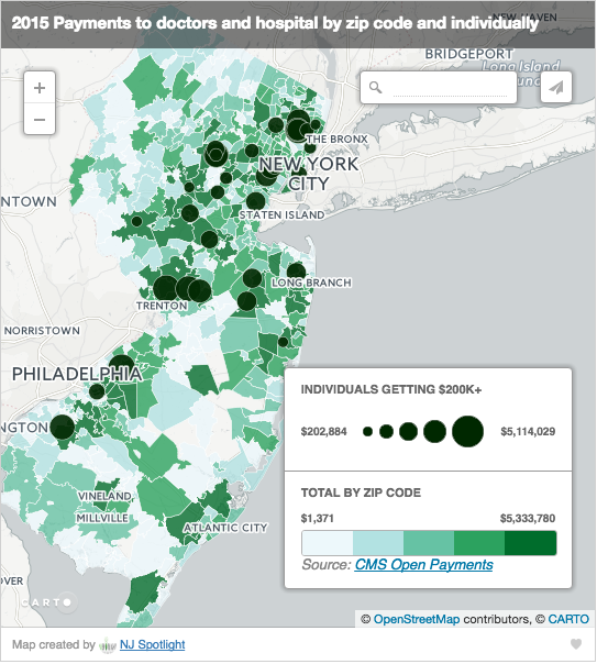 "New Jersey Interactive ""Transparency"" Map – Policy & Medicine"